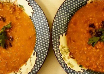 A lentil pairing.